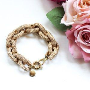 J. Crew Gold Tone Chain Bling Bracelet